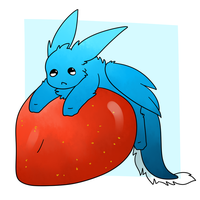 Keemo and a Big Strawberry by Lexi247