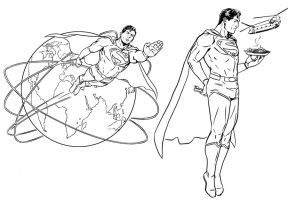 Superman editorial illos by MarcLaming