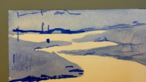 zigzag river, value study, detail by muridaee