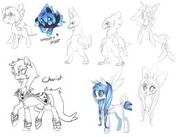 WIP Pony Sketch Dump by Lanmana