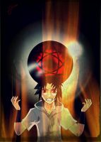 Sharingan in the fire by ZuJankowskaProject