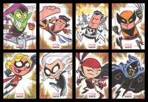 BRONZE AGE sketchcards 017-024 by thecheckeredman
