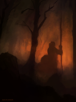 Burning Forest by ehecod
