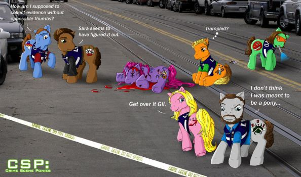 CSP: Crime Scene Ponies by TresMaxwell