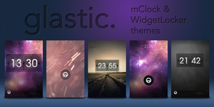 Glastic Themes! - WL + mClock by Madhoe