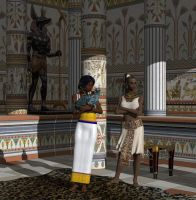 Egyptian houseservants by deadheart82