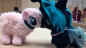 MLP Queen Chrysalis n Flufflepuff Gifts-n-Shipping by TheGiantsnoll