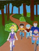page 4. family bike ride by hiddentalent1
