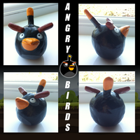 Bomber Angry Bird Model by SonARTic