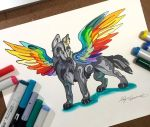 329- Rainbow Winged Wolf by Lucky978