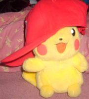 Pikachu with Mario's Hat 1 by MarioBlade64