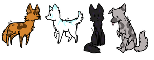 Wolf Adoptables {Closed} by Shadowed-Adoptables