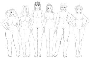 The Six's bodies by lvlapple