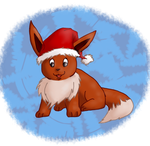Merry Christmas with Eevee2 by Lolotie