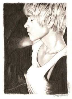 Mitch Hewer sketchbook page by GiuseppeDiGiacomo