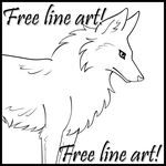 FREE LINEART - Fox by WildSpiritWolf