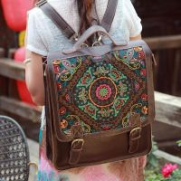 Women's Laptop Genuine Leather Embroidery Bag by tracylopez