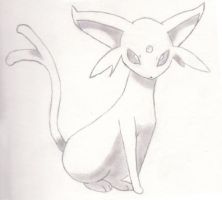 Espeon sketch by CBuizel