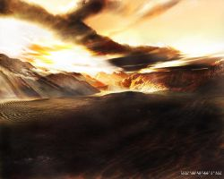 Terragen - Fields of Cydonia by tigaer