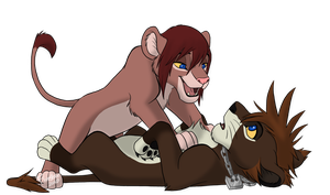 'Pinned ya, Sora' by KaiserTiger