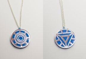 Iron Man Heart Arc Reactor pendants by Zamataj