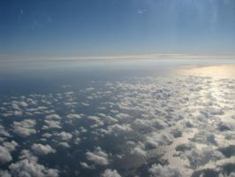 Blue sky from above by TheEndWhereIBegin