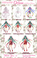 Step by step | Orfana the Blind Flower by greenmaggot-designs