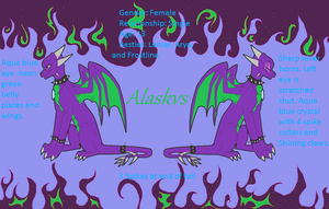 Alaskys ref sheet by Kryxiate