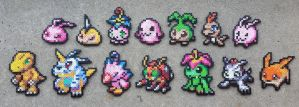 Partner Digimon  - Digimon Perler Bead Sprites by MaddogsCreations