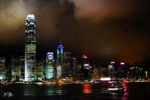 Hong Kong Skyline by tancredyip