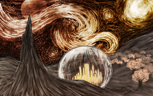 Gallifrey version of Starry Night :D by Ollis100