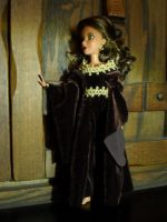 Gold and Brown Medieval Doll Dress by kayanah