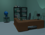 Home Office 3D Scene by foxstory