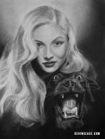 Charcoal: Veronica Lake by KevinCease