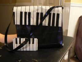 Piano Duct Tape Bag by katiesparrow1