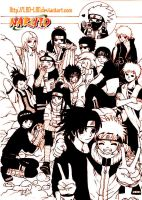 The Village Boys_Naruto by Lanzetter