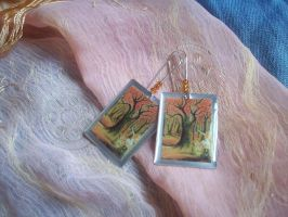 Autumn Forest Earrings by ChrisOnly