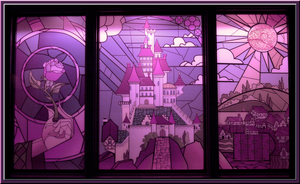 Stained Glass in Pink by WDWParksGal