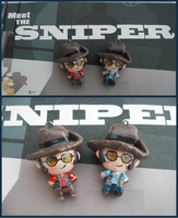 Chibi-Charms: TF2 Sniper by MandyPandaa
