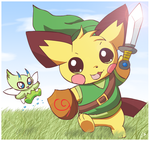 Sparks the Legendary Hero by pichu90