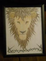 Lion Drawing For SALE by animegirlffx