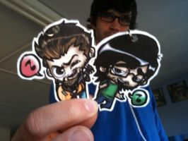 Rhett and Link Keychains by ScarecrowArtist