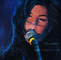 Marina and the diamonds - Painting by Laovaan