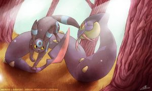 Umbreon vs Seviper - CONTEST ENTRY by RoxiBeFox