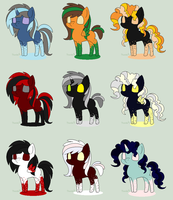 Halloween Inky Adopts- closed by cutiiebutt-creations