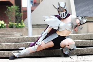 T.M.N.T.: Fem. Shredder #7 (Shelle-Chii) by AilesNoir