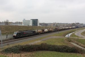 SBB 189 ??? with containertrain by damenster