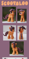 .:Scootaloo Custom MLP:FIM Sculpt:. by alltheApples