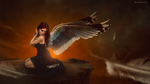 The Girl With Wings by Hieu-Art