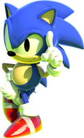 Classic Sonic by mateus2014